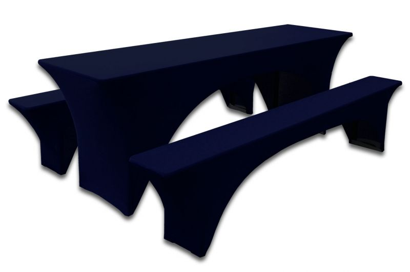 Hoes Navy Blauw voor Biertafel en banken 220 x 60