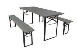 grote biertafelset 220x70 grijs grey wash met bankjes