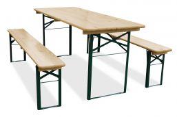 biertafel en banken 180cm bij 70cm inklapbaar