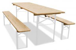 220cm bij 70cm met wit frame biertafelset