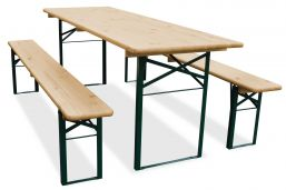 biertafel en banken 220x50 met bankjes