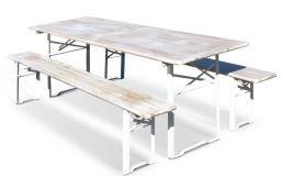 biertafel wit en wit onderstel