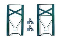 Set onderstel frame voor bierbanken groen gecoat