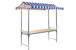 Marktkraam Professional - 2 meter | Blauw/wit