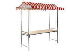Marktkraam Professional - 2 meter | Rood/wit