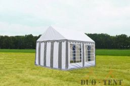 Partytent 3x3 Classic brandvertragend PVC - Beige / wit