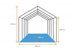 tekening 3x8 tent