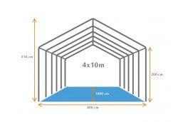 bouwtekening patytent 4x10 pvc