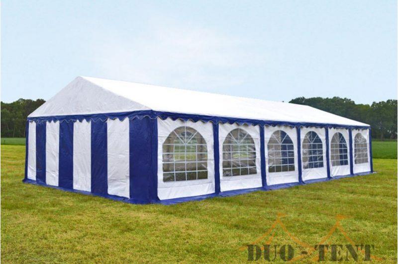Partytent 5x12 Classic brandvertragend PVC - Blauw / wit