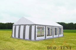 Partytent 6x8 Classic brandvertragend PVC - Grijs / wit