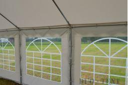 label brandvertragend 6x6 tent party classic