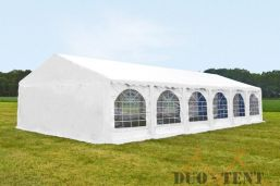 Partytent 6x12 meter Wit Classic brandvertragend PVC