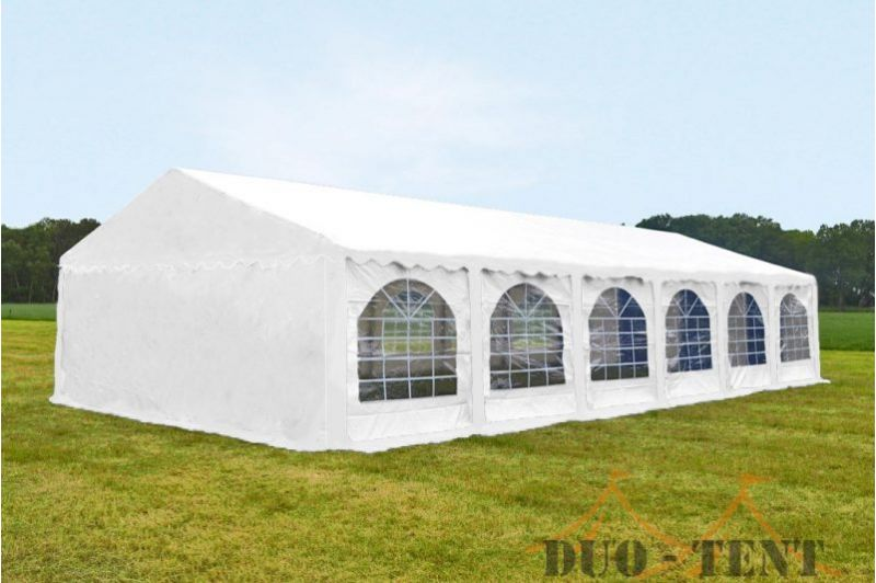 Partytent 6x12 meter Wit Classic brandvertragend PVC