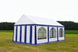 Partytent 3x6 Premium brandvertragend PVC - Blauw / wit