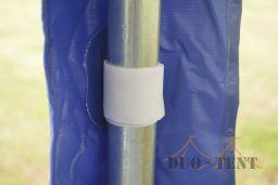 dakzeil flap 6x3 partytent met klittenband vastgezet