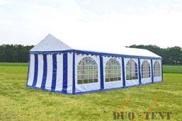 Partytent 3x10 Premium brandvertragend PVC - Blauw / wit