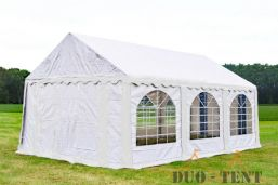Partytent 4x6 Premium brandvertragend PVC - Wit
