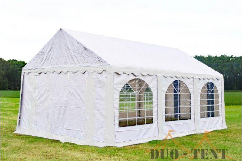 Partytent 4x6 Premium brandvertragend PVC - Wit