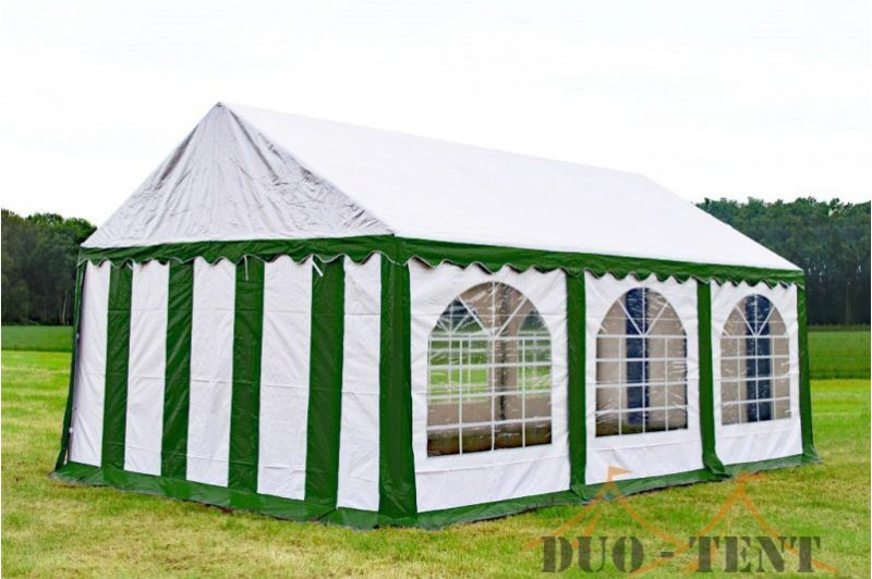 Partytent 4x6 Premium brandvertragend PVC - Groen / wit