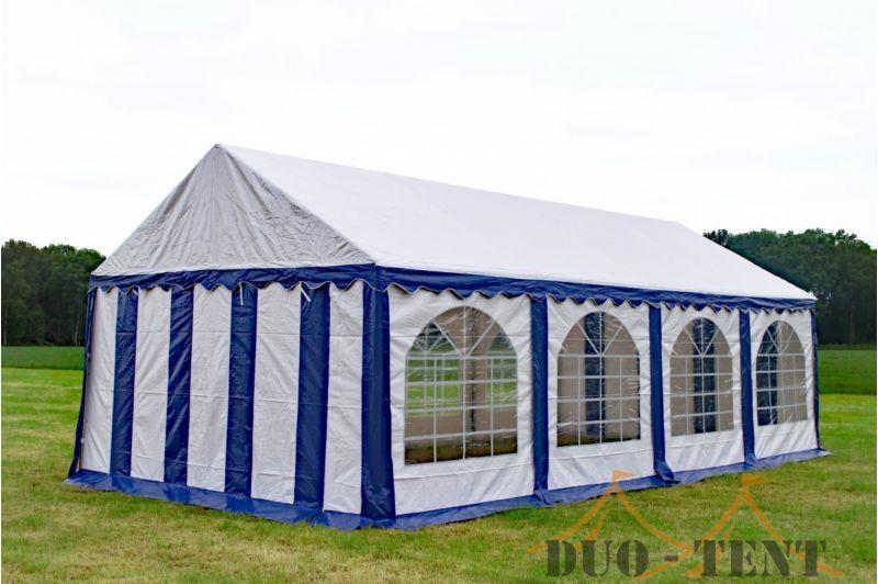 Partytent 4x8 Premium brandvertragend PVC - Blauw / wit