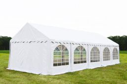 Partytent 4x10 Premium brandvertragend PVC - Wit