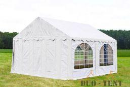 Partytent 5x4 Premium brandvertragend PVC - Grijs / wit