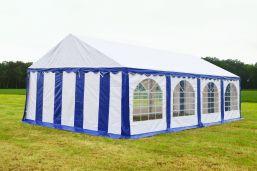 Partytent 5x8 Premium brandvertragend PVC - Blauw / wit