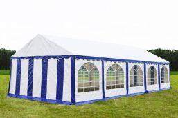 Partytent 5x10 Premium Blauw / wit - brandvertragend PVC