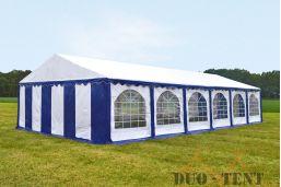 Partytent 5x12 Premium brandvertragend PVC - Blauw / wit