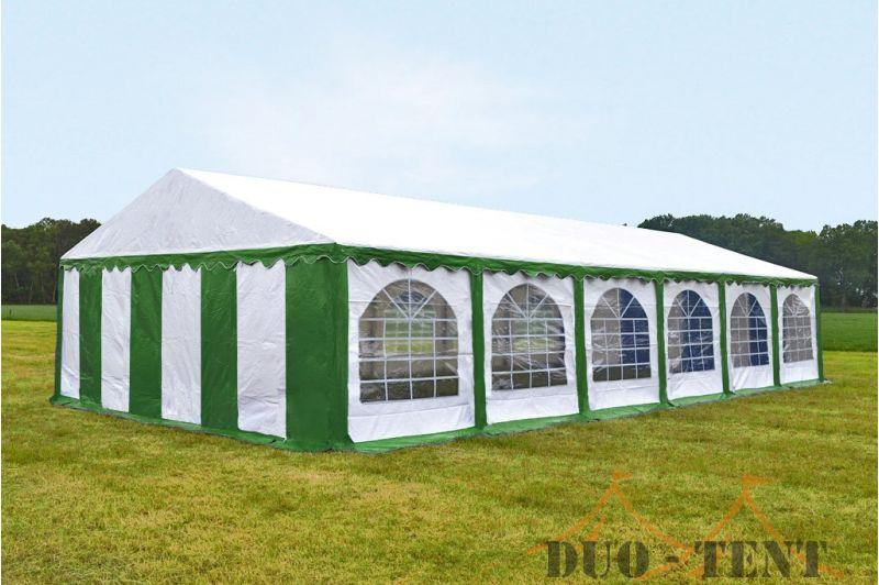 Partytent 5x12 Premium brandvertragend PVC - Groen / wit