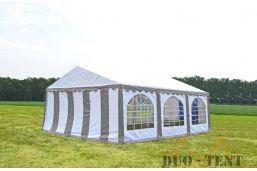 Partytent 6x6 Premium brandvertragend PVC - Blauw / wit