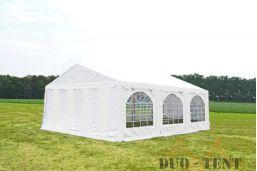 Partytent 6x6 Premium brandvertragend PVC - Rood / wit