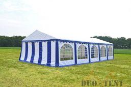 Partytent 6x10 Premium brandvertragend PVC - Blauw / wit