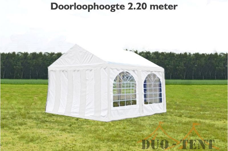 Partytent 4x4 professional brandvertragend PVC - Wit