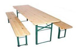 inklapbare biertafelset met bankjes voor kinderen