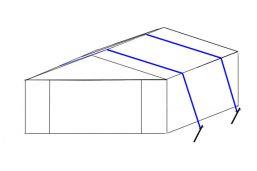 Stormbanden set Partytent - 2 stuks - Grond/Steen voor tent 3/4 mtr breed - Haringen 50 cm -