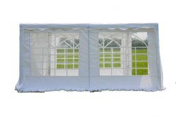zijwand partytent 4 meter met ramen wit