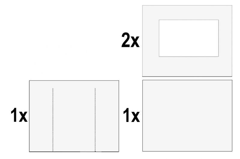 Zijwandenset opvouwbare partytent 3x3 Premium