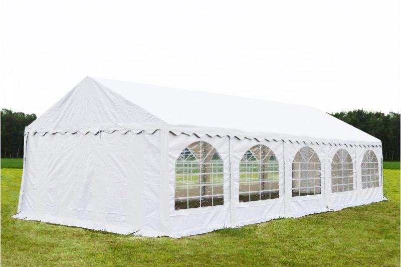 Partytent 5x10 meter Wit - Premium brandvertragend PVC
