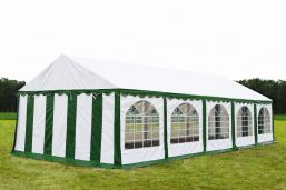 Partytent 5x10  Premium brandvertragend PVC - Groen / wit