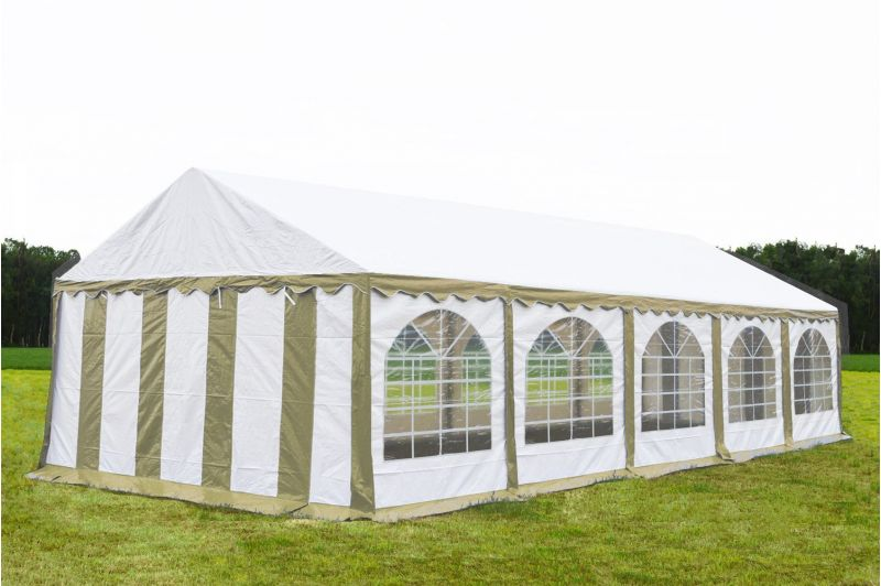 Partytent 5x10  Premium brandvertragend PVC - Beige  /wit