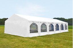 Witte Partytent 5x12 Premium brandvertragend PVC