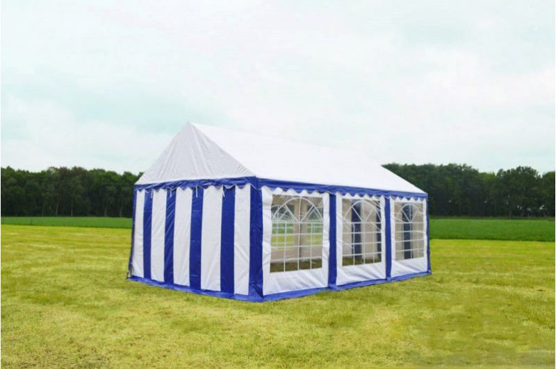 Blauw Wit Partytent 3x6 Classic brandvertragend PVC