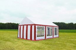 Rood Wit Partytent 3×6 PVC Classic feest tent