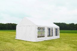 Witte Partytent 4x6 Classic brandvertragend PVC - Wit feest tent