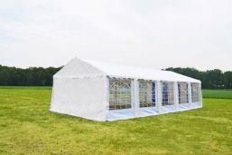 Partytent Wit 4x10 Classic PVC Brandvertragend