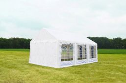 stevige partytent wit 5x6 Classic PVC Brandvertragend